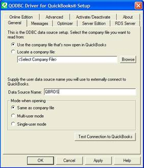quickbooks Datenbankservermanager